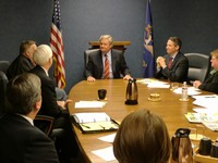 The NDARE Board of Directors met with Governor Dalrymple and Lt. Governor Wrigley to share renewable energy and energy efficiency recommendations.